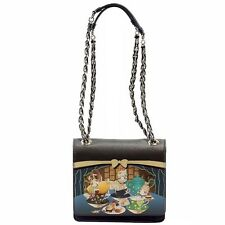 Love Moschino Women's Petite Sweet Printed Flapover Satchel Handbag