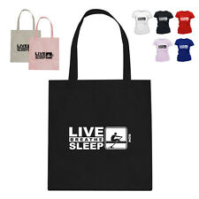 Rower Gift Cotton Tote Bag Eat Live Breathe Sleep Row