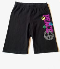 EUC GIRL'S FADED GLORY SHORTS SIZE 10/12 MULTI- COLORS WITH DESIGNS ON LEG