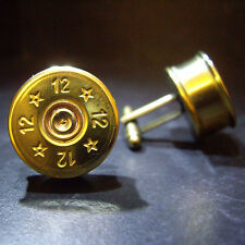 Shotgun Shell Cartridge Cap Cufflinks for the Escort owners Birthday