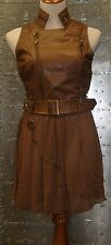 Idoru Brown Steampunk Victorian Gothic Faux Leather Vest