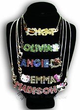 Girls Hello Kitty Personalized Name Necklace 925 Sliver Chain Birthday Gift Her