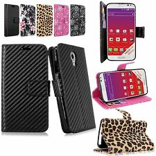 For LG LS740 Volt Pu Leather Flip Wallet Card Pocket Stand Case Cover W/Strap