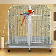 "Piilani Plantation™ Extra Large Double Bird Cage With Divider - 64""W x 32""D x 70"