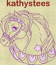 Fancy Horse Heads - Machine Embroidery Designs On CD