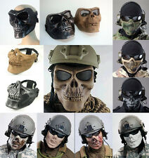 Skull Skeleton Army Airsoft Paintball BB Gun Face Protection Safe Mask UK Ship