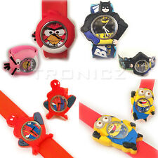 Cartoon3D Silicon Rubber Minions,Spiderman,Batman,Angry Birds Kids Wrist Watches