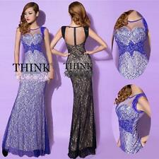 Fancy Formal Evening Bodycon Gown Bridesmaid Prom Long Cocktail Dresses Stock