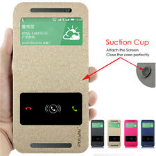 High Quality PU Leather Flip Cover Stand Case + Screen Protector for HTC Phone