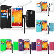 Housse Etui Coque Portefeuille Cuir Pour Samsung Galaxy Note 3 Neo N7505 + Film