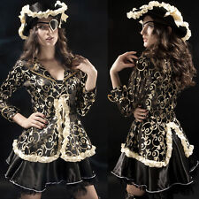 Lady Pirate Sailor 5PC Cosplay Outfit Caribbean Fancy Dress Halloween Costume D
