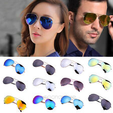 Gold Metal Frame Aviator Sunglasses Mirror Lens Eyewear UV 400 Protection Beach