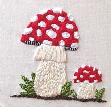 Amanita Muscaria Hand Embroidery Download PDF Embroidery Pattern