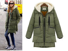 Hot Fashion Women's Winter Coat Thicken Hooded white duck Down Military Jacket