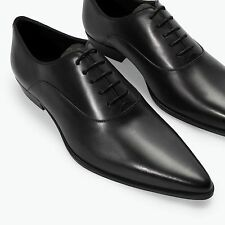 ZARA MEN'S Leather oxford shoe with pointed toe 5618/302. NEW SEASON AW 2014