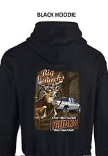 Big Bucks And Awesome Trucks Deer Hunting PULLOVER HOODIE Sizes Small - 5XL