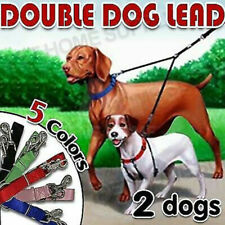 Two Way Double Dog Leash Lead Walk 2 Dogs With One Lead Coupler NYLON AU Seller