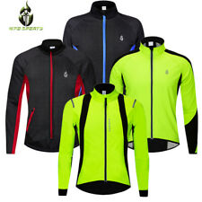 Cycling Jacket Windstoper Fleece Thermal Winter Windproof Long Sleeve Coat Green
