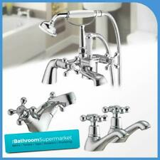 Traditional Classic Chrome Bathroom Taps Sink Basin Mixer Bath Filler Shower Tap