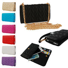 """Fashion PU Leather Chain Hangbag Wallet Flip Case Cover For 4.7""""-5"""" Mobile Phone"""