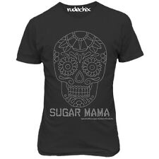 Women's Rudechix Sugar Mama T-Shirt Day of the Dead Skull Tattoo