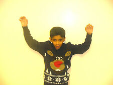 KIDS TIME FOR CHRISTMAS ENJOY REINDEER STYLE JUMPER IN GREAT EMOTIONS YOU FEEL
