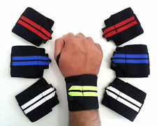 Power Weight Lifting Wrist Wraps Supports Gym Training Fist Straps 13''inches X2