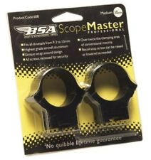 BSA 2 piece Scope Mounts for 9.3mm to 13mm dovetails, Air Rifle Gun 22 177 .25