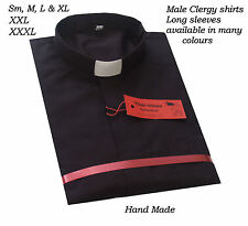 HAND MADE CLERGY/ CLERICAL  LONG /SHORT SLEEVE SHIRT all Colours Sm,M,L,XL, XXL,