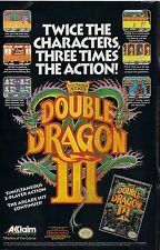 DOUBLE DRAGON III Video Game Promotional Posters Retro