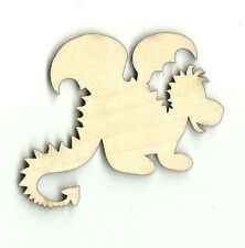 Cute Dragon Unfinished Wood Shapes Craft Supply Laser Cut Outs DIY MYTH1