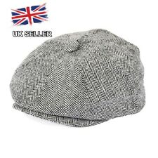 NEW TWEED HERRINGBONE 8 PANEL COUNTRY FLAT GATSBY NEWSBOY BAKER BOY CAP 7 SIZES