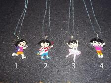 """Dora the Explorer Necklace with 17"""" Chain-USA Seller-Free Shipping"""