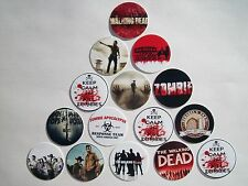 """15 ct 1""""  Walking Dead Zombies Buttons Pinbacks Flatbacks hairbows crafts"""