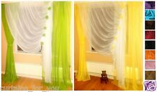 12 COLOURS AMAZING LONG AND SHORT VOILE CURTAINS / FOR YOUR WINDOW/ VERY PRETTY!