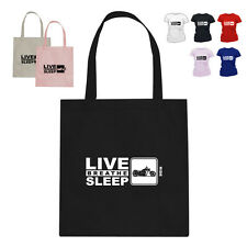 Chopper Motorcycle Lover Gift Tote Bag Eat Live Breathe Ride
