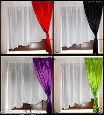 READY MADE MODERN  AMAZING CURTAINS  VOILE TAFFETA FOR YOU VARIOUS SIZES