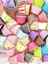 Pleated Cupcake Cases Muffin Cases Polkadot Striped Baking Cups MEGA LISTING!!!