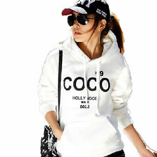 Womens MODE Cotton Blend Hoodie COCO Print Jacket Coat Sweatshirt Outerwear USHU