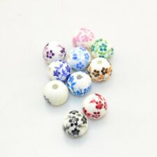 10 Pcs 6MM 8MM 10MM 12MM babys breath ceramic bead charm beads 10 Colour