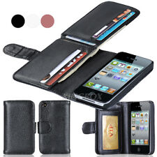 Luxury PU Leather Multi Card Slot Cash Pocket Folio Wallet Phone Case for iPhone