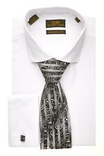 Dress Shirt by Steven Land 2014 Spread Collar French Cuff- White- DM1260-WHT