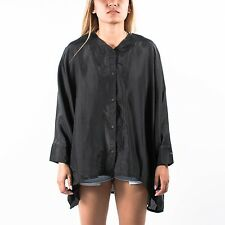 PUMA WOMENS URBAN MOBILITY BUTTON  SHIRT SILK BLACK HUSSEIN CHALAYAN 558343 01