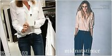 Equipment Signature & Slim Silk blouse Shirt Nature/Bright White/Nude top