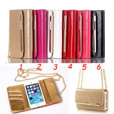 PU leather wallet card slots Shoulder Bags style case for apple iphone 6 4.7""
