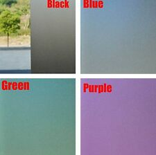 Black Green Blue Purple Frosted Glass Window Film Privacy Static Cling #N0-3
