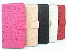 Lovely Cute Girl Flip PU Leather Pouch Case Wallet Cover For HUAWEI Cell Phones