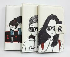 Cute Lovely Girl & Boy Flip Pouch Leather Card Wallet Case Cover For Nokia phone