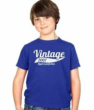 Vintage 2007 7th Birthday Childs Present Party Gift Kids Boys & Girls T-Shirt