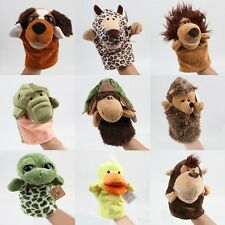 Kid Child Cute Plush Velour Animals Hand Puppets Chic Designs Learning Aid Toy